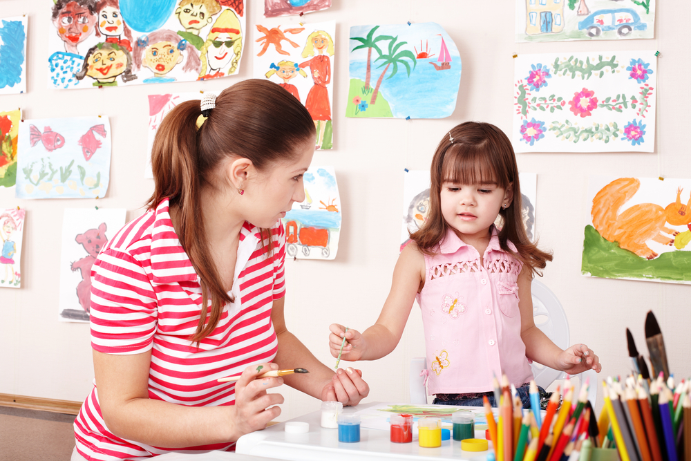 Image of Teacher with Child at Childcare Centre